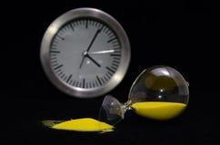 Łamany Szklany Hourglass Obrazy Royalty Free