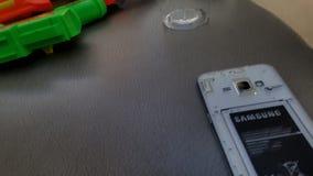 łamany telefon fotografia stock