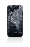 Łamany telefon komórkowy Obrazy Royalty Free