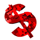 łamigłówka dolarowy znak Obraz Stock