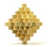 łamigłówka drewniana Zdjęcie Stock