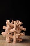 łamigłówka drewniana Fotografia Royalty Free