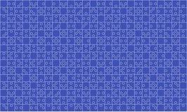 375 łamigłówka kawałków Błękitna wyrzynarka - wektor Obrazy Royalty Free