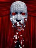 Łamigłówka kawałków spadek zdala od maski w teatrze royalty ilustracja