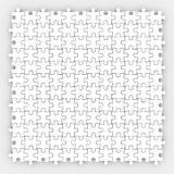 Łamigłówka kawałka Biały tło Kończąca Uzupełniająca gra royalty ilustracja