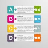 Łamigłówka kawałka infographics biznesu pojęcie ilustracja wektor