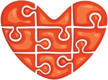 Łamigłówka w formie serca Obrazy Stock