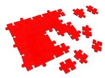 łamigłówki czerwień ilustracji