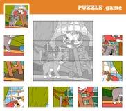 Łamigłówki gra dla dzieci z zwierzętami (koty) Zdjęcia Royalty Free