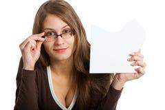 łamigłówki karciana target2410_0_ kobieta obrazy stock
