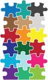 Łamigłówki koloru kawałki Obraz Stock