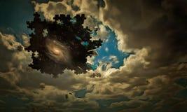 Łamigłówki niebo royalty ilustracja