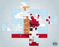 Łamigłówki Santa obwieszenie na kominie royalty ilustracja