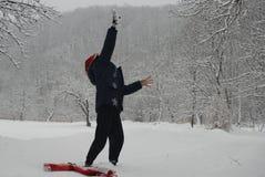 Łapać śnieg obrazy stock