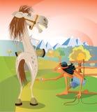 Łapać konia royalty ilustracja