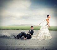 Łapać w pułapkę małżeństwem Obrazy Stock
