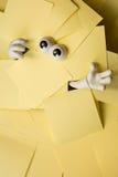 Łapać w pułapkę pod papierkową robotą Obrazy Stock