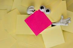 Łapać w pułapkę pod papierkową robotą Fotografia Royalty Free