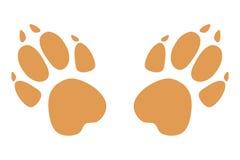 Łapa druki logo również zwrócić corel ilustracji wektora Brown na białym tle wektor Obrazy Royalty Free