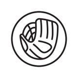 Łapacz ikony wektor odizolowywający na białym tle, łapacza znak, liniowi sportów symbole ilustracji