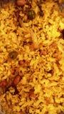 Łasowania poha w śniadaniowym maharashtrian indyjskim zdrowym śniadaniu z mungfali Zdjęcie Stock