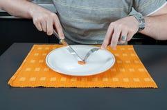 łasowanie marchwiany kawałek Fotografia Stock