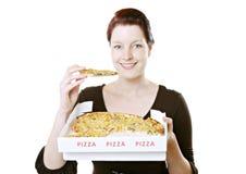 łasowanie pizza obrazy stock