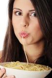 Łasowanie spaghetti Obrazy Royalty Free