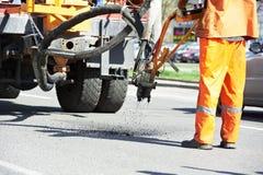 łatań asfaltowi roadworks Obraz Stock