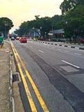 Łatająca asfaltowa droga zdjęcie stock