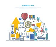łatwa biznesowa skrzynka redaguje Kierunek zadania, problemy firma, osiągnięcie cele ilustracja wektor