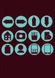 łatwe tło ikony zamieniają przejrzystego cienia wektor Fotografia Stock