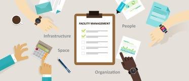 Łatwości zarządzania udostępnienia buduje utrzymanie usługa biuro ilustracja wektor