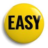 Łatwy Żółty guzika 3D symbol Obraz Royalty Free