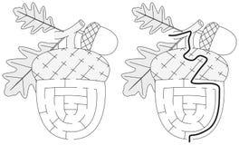 Łatwy acorn labirynt ilustracji