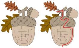Łatwy acorn labirynt ilustracja wektor
