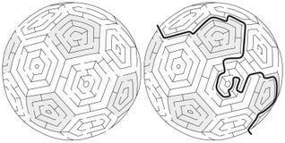 Łatwy balowy labirynt royalty ilustracja