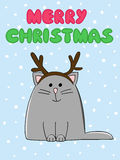 łatwy karciany kot redaguje Obrazy Royalty Free
