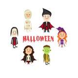 Łatwy redagować ilustrację Halloweenowy charakter wektor Ilustracji