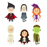 Łatwy redagować ilustrację Halloweenowy charakter wektor Zdjęcia Stock