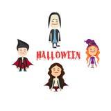 Łatwy redagować ilustrację Halloweenowy charakter wektor Obrazy Stock