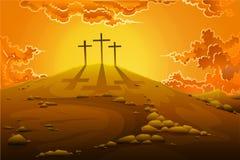 Kalwaryjski krzyżowanie Ilustracji