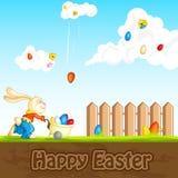 Królik łapie Wielkanocnego jajko Royalty Ilustracja