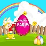 Królik maluje Wielkanocnego jajko Ilustracja Wektor