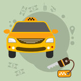 Łatwy redagować wektorową ilustrację reprezentuje kolorowego India Indiański taxi ilustracja wektor