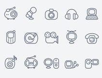 łatwy redaguje ikony medialne ilustracja wektor