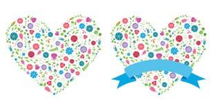 łatwy redaguje kwiatu serce Zdjęcie Royalty Free