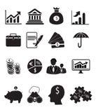 łatwy redaguje ustawiającego ikona finansowego wizerunek Zdjęcie Stock