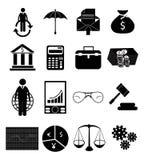 łatwy redaguje ustawiającego ikona finansowego wizerunek Obraz Stock