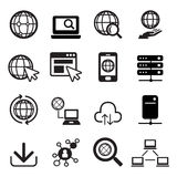 łatwy redaguje ustawiających ikona internety Obraz Royalty Free